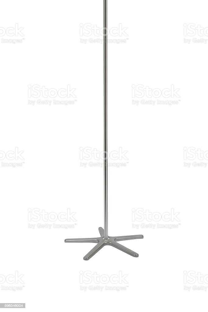 isolated stripper pole stock photo