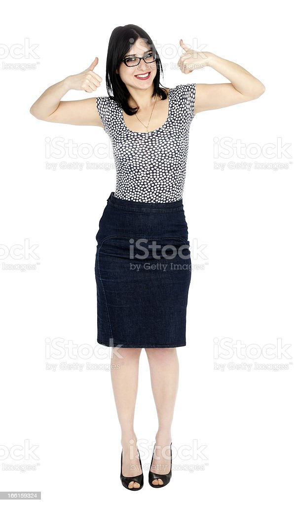 Isolated Success 30's Woman stock photo