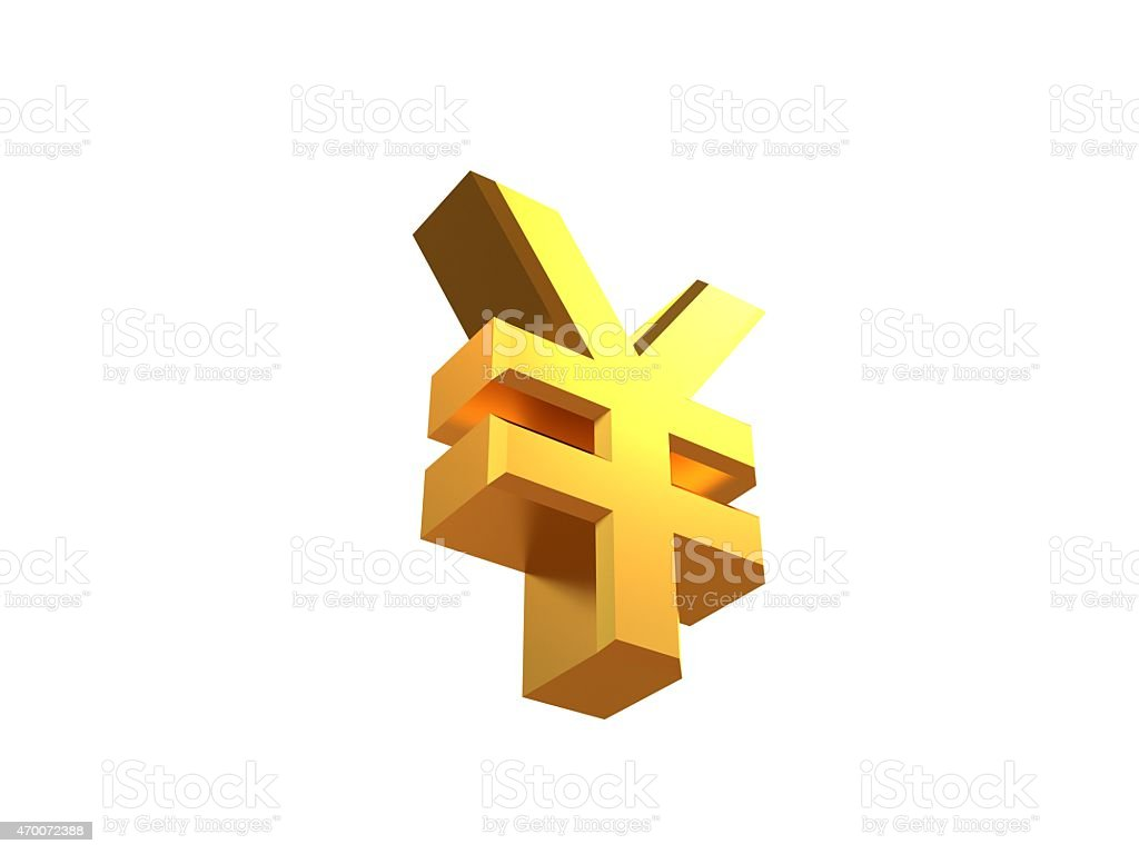 Rmb isolated symbols stock photo istock chinese currency gold metal reflection shadow rmb isolated symbols biocorpaavc Gallery