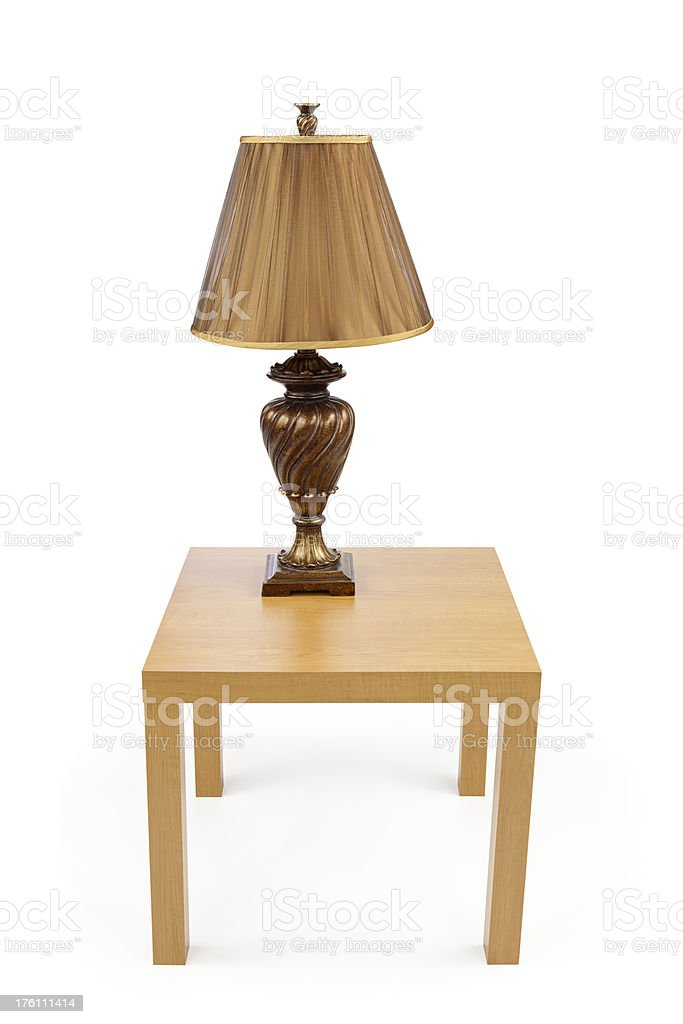 Isolated Table with Lamp royalty-free stock photo