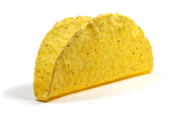 Isolated taco shell stock photo
