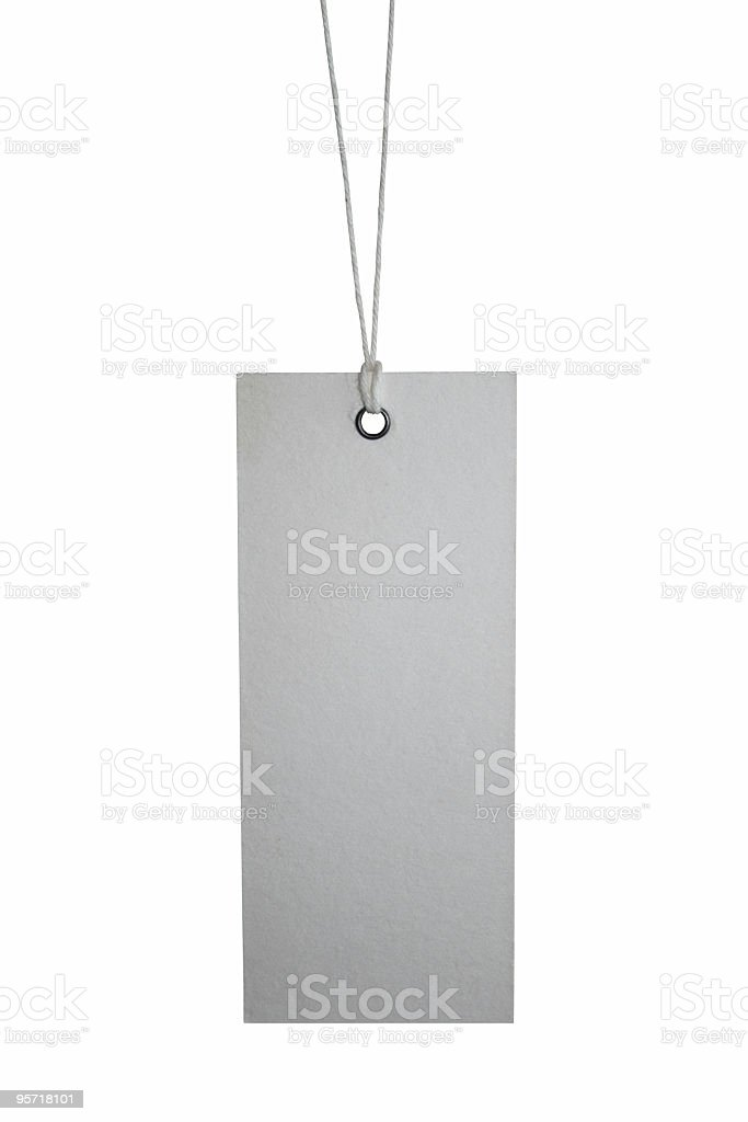 Isolated tag on white XL royalty-free stock photo