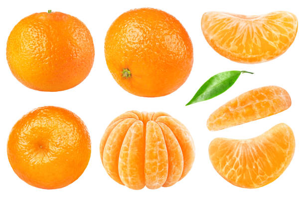 Isolated tangerine collection stock photo