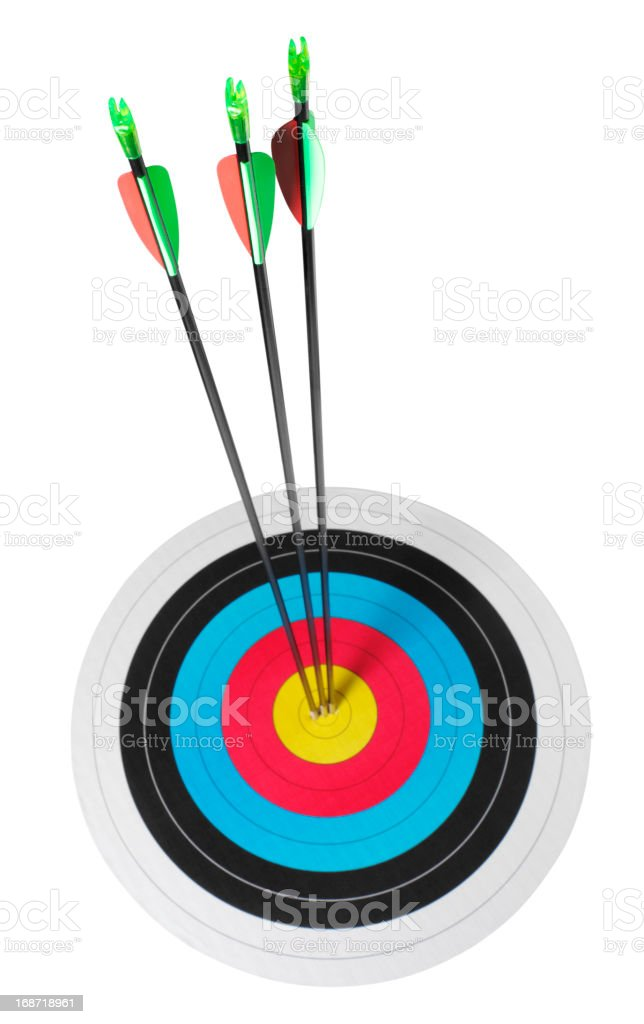 Isolated Target in Archery royalty-free stock photo
