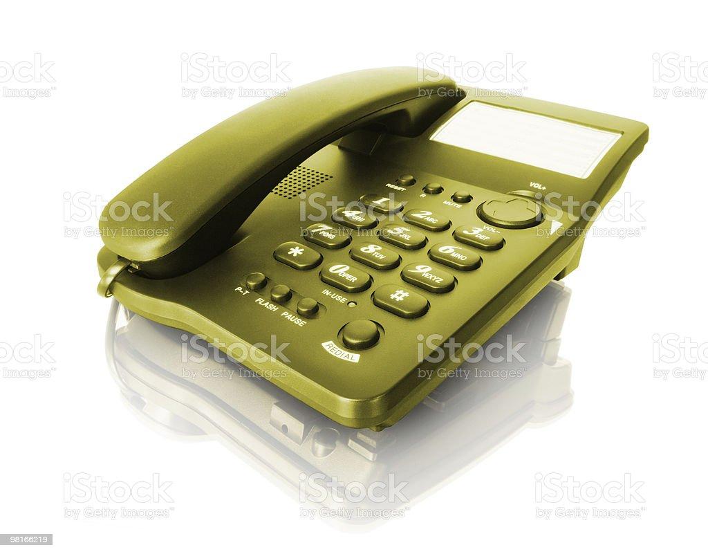 isolated telephone royalty-free stock photo