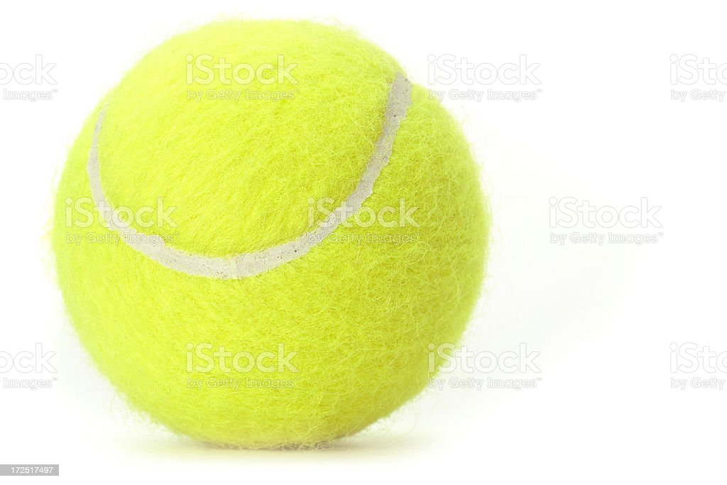 Isolated Tennis Ball royalty-free stock photo