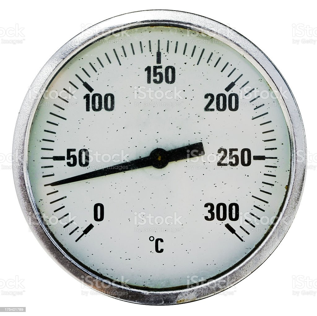 isolated thermometer royalty-free stock photo
