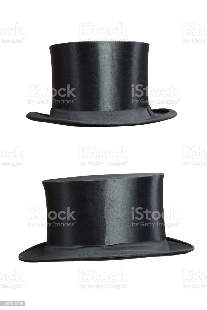 isolated Top Hat stock photo