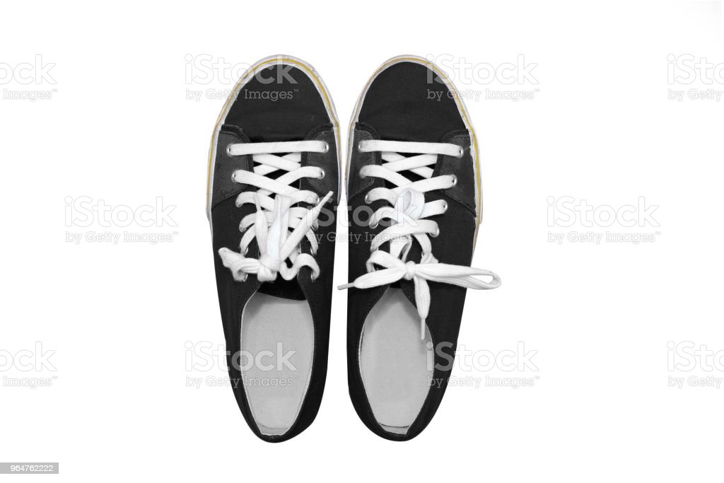 isolated top view of blue sneakers shoes royalty-free stock photo