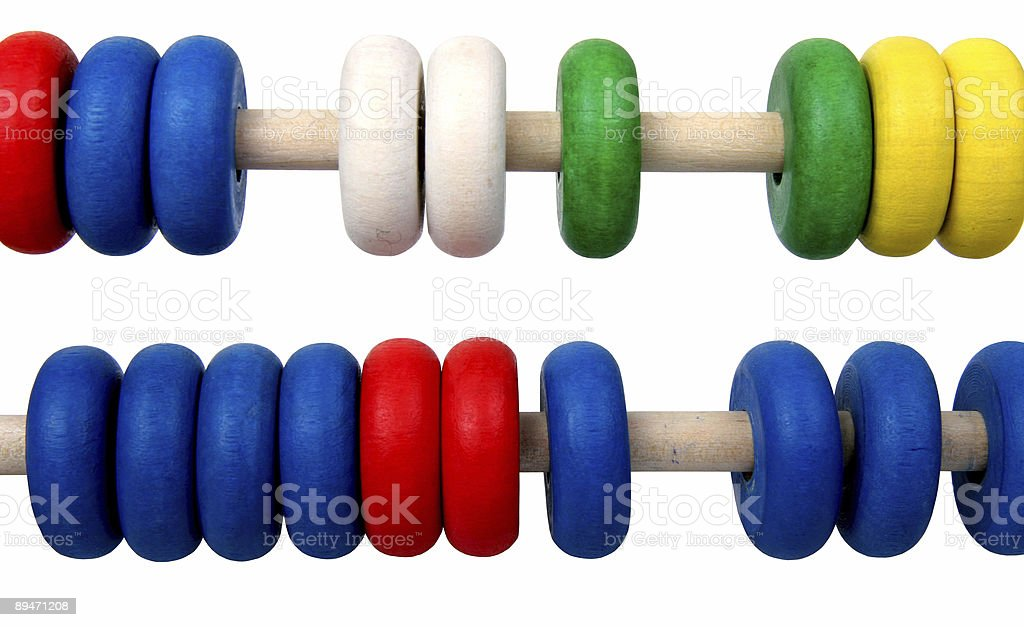 isolated toy abacus royalty-free stock photo