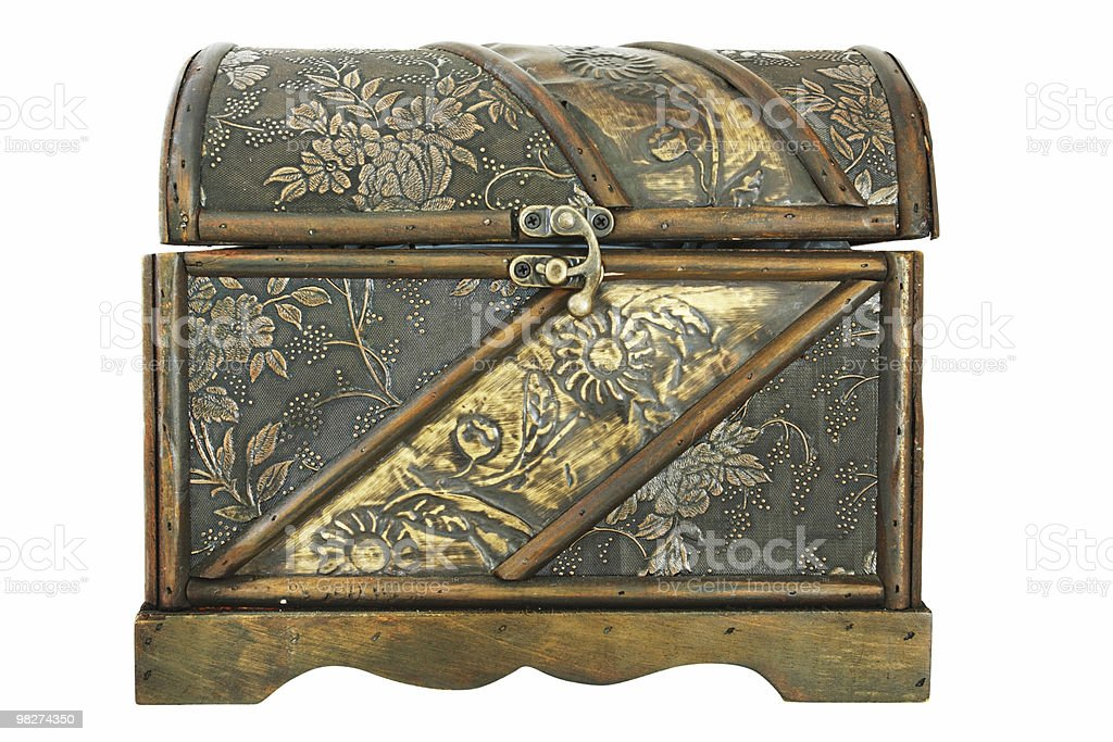 Isolated Treasure Chest, Closed royalty-free stock photo