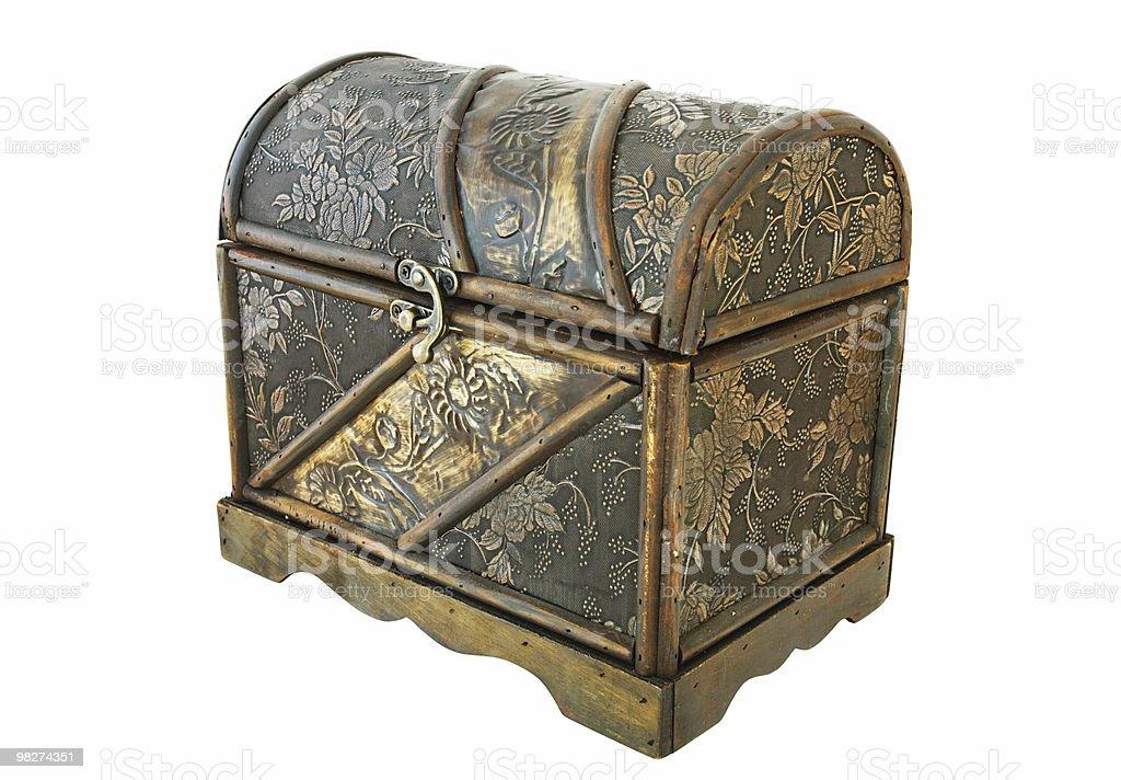 Isolated Treasure Chest royalty-free stock photo