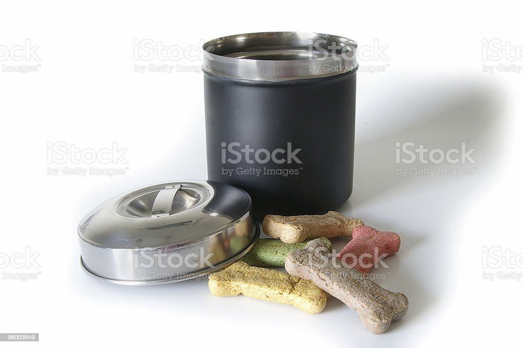 Isolated Treat Canister royalty-free stock photo