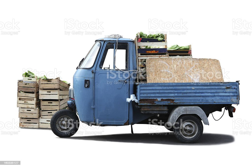 Isolated Tricycle royalty-free stock photo