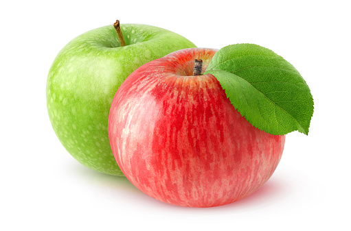Isolated two apples