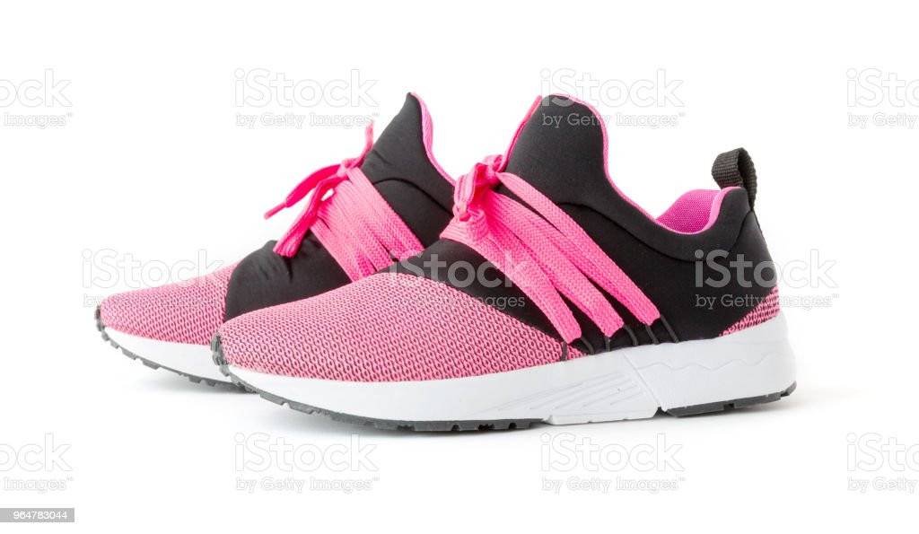 isolated unisex modern style sport shoes royalty-free stock photo