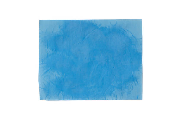 Isolated used blotting paper with oil on the paper on white background Isolated used blotting paper with oil on the paper on white background blotting paper stock pictures, royalty-free photos & images