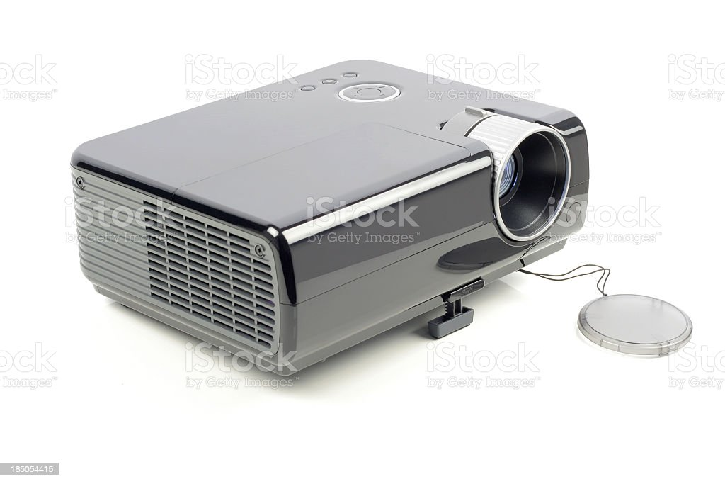 Isolated video projector on a white background stock photo