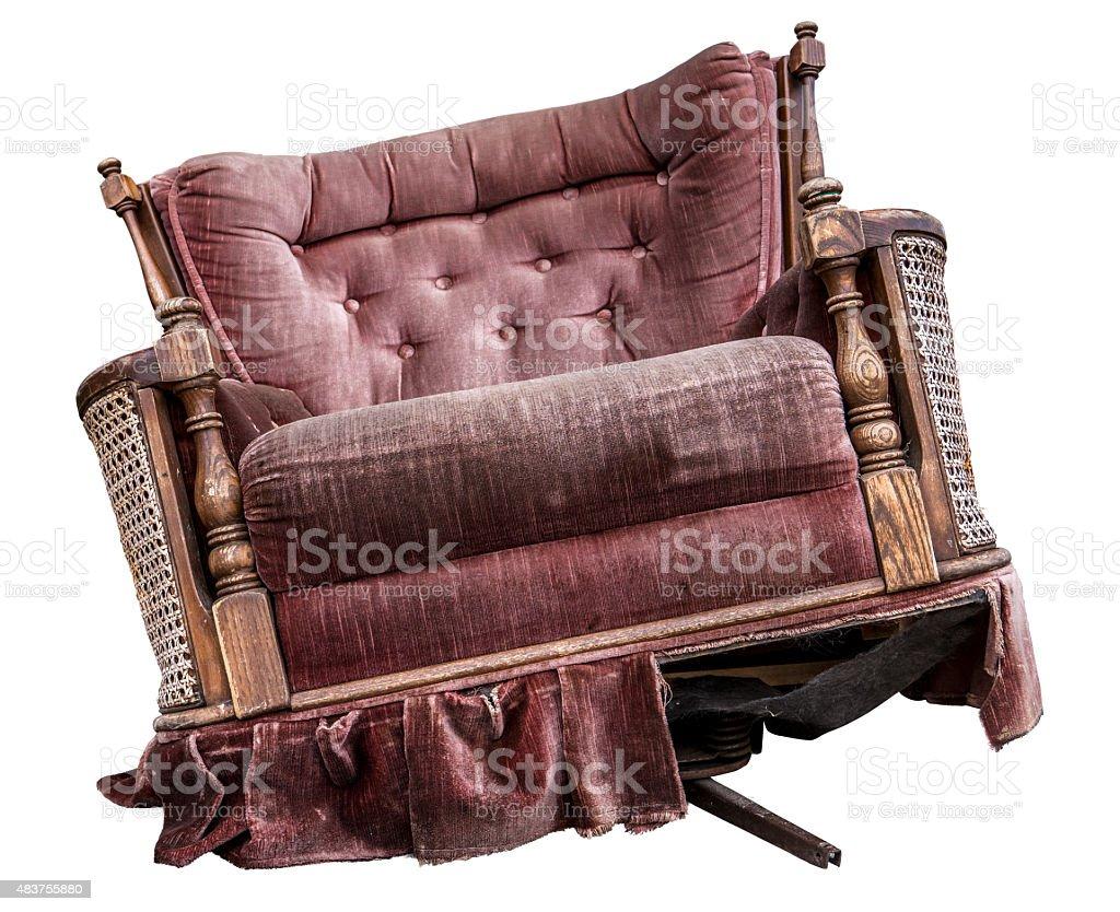 Isolated Vintage Armchair stock photo