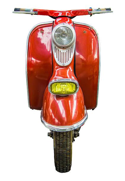 isolé vintage scooter - moped photos et images de collection