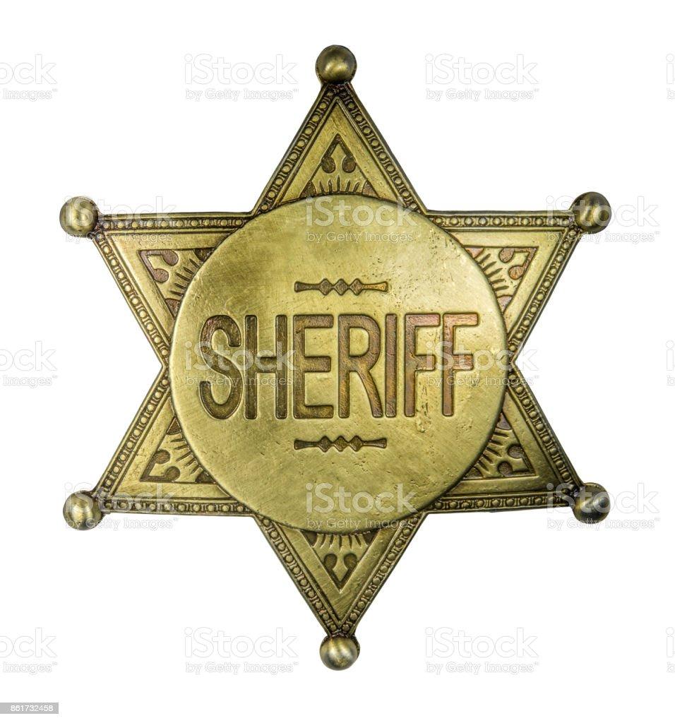 Isolated Vintage Sheriff Badge stock photo