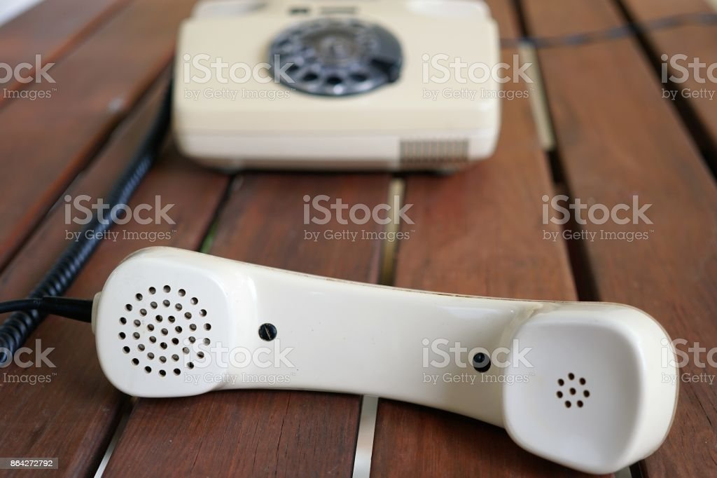 Isolated vintage telephone royalty-free stock photo