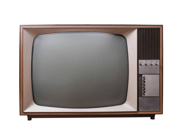 isolated vintage television - 1980s style stock photos and pictures