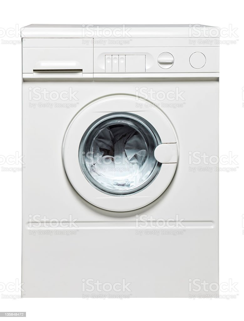 isolated washing machine stock photo