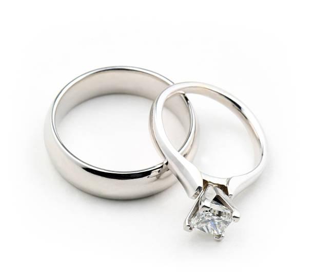 Isolated Wedding Rings stock photo