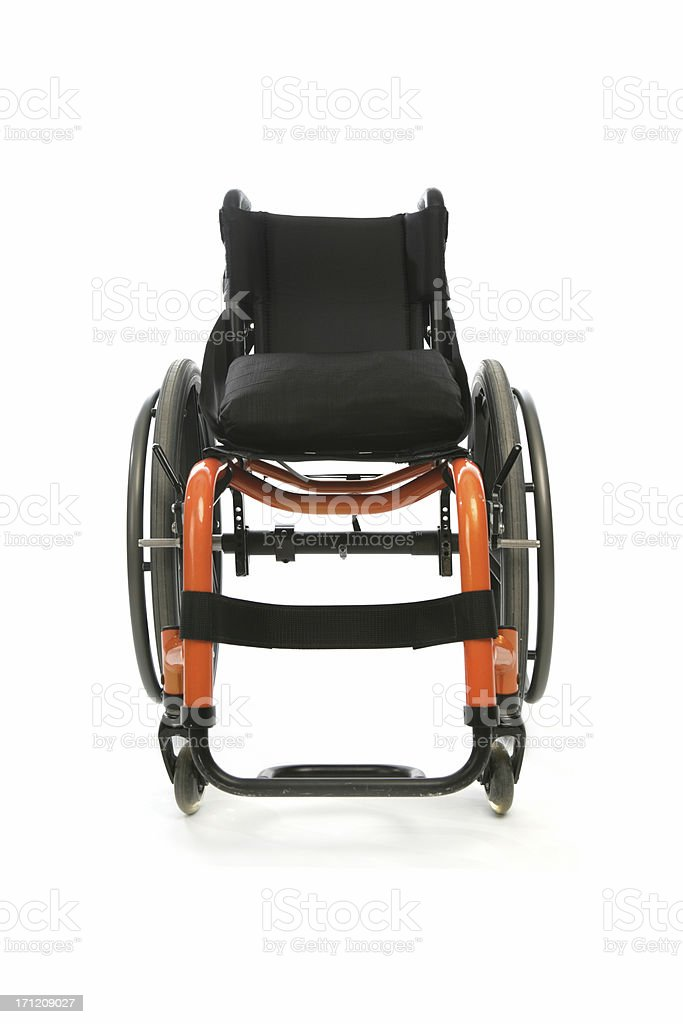 Isolated wheelchair royalty-free stock photo