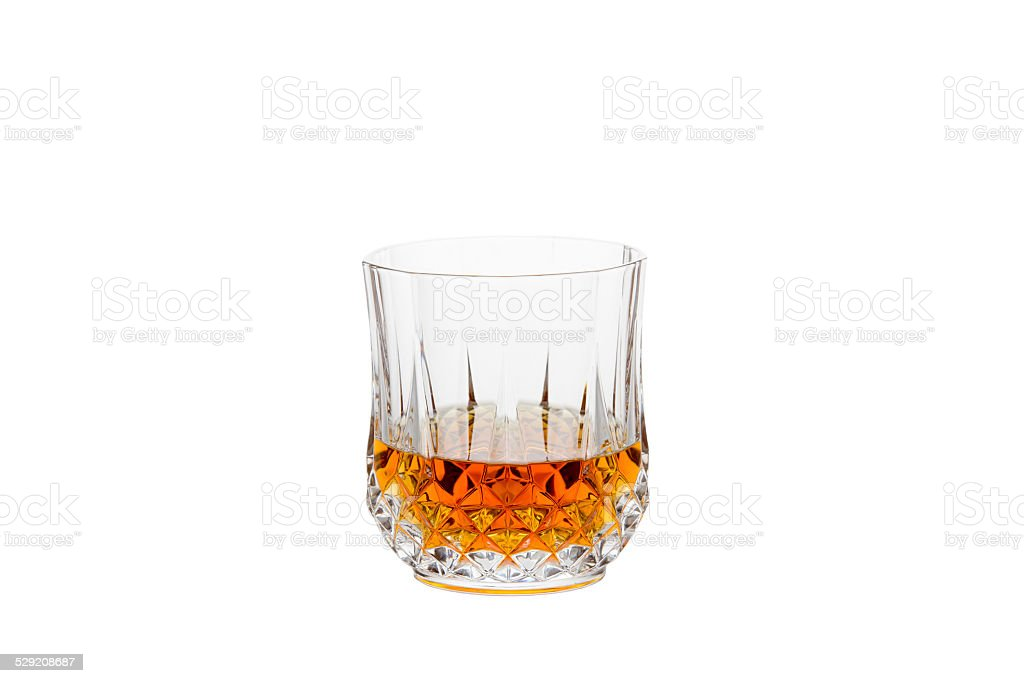 Isolated Whisky in a Crystal Glass stock photo