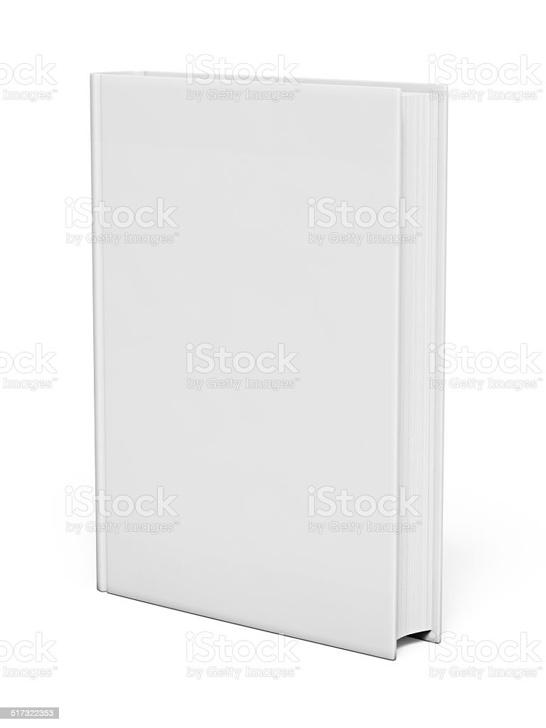 Isolated white blank book stock photo