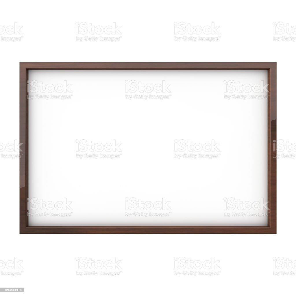 Isolated white blank drawing board royalty-free stock photo