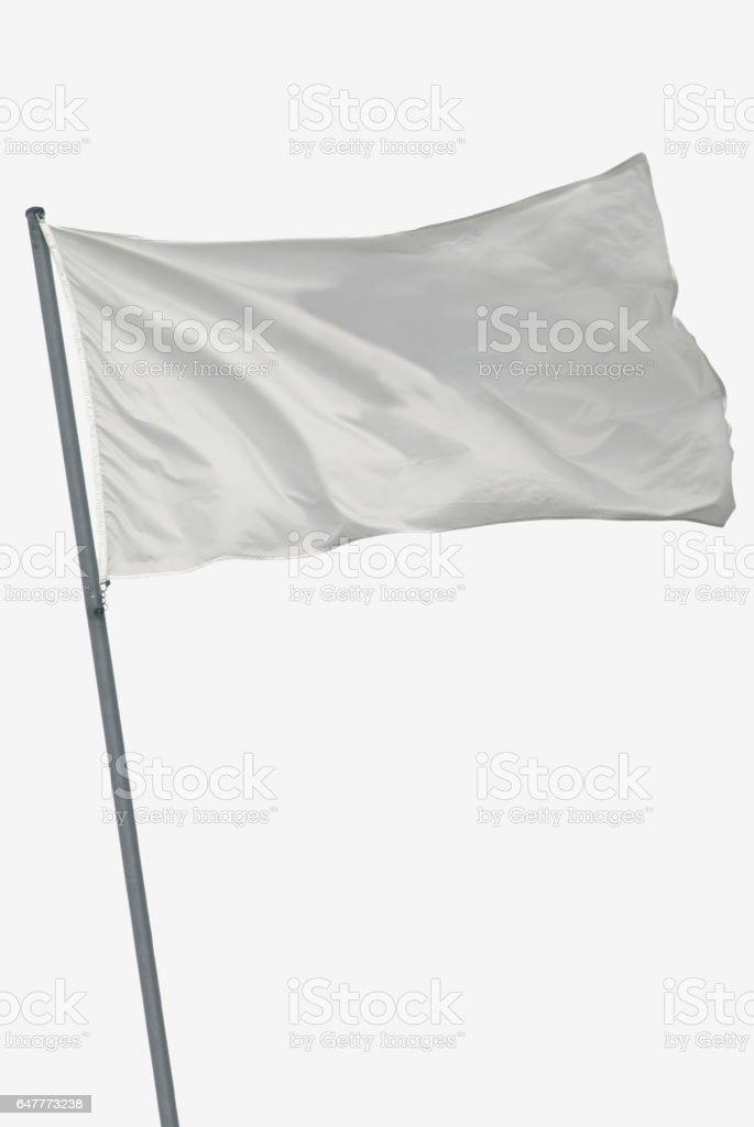 Isolated white flag stock photo