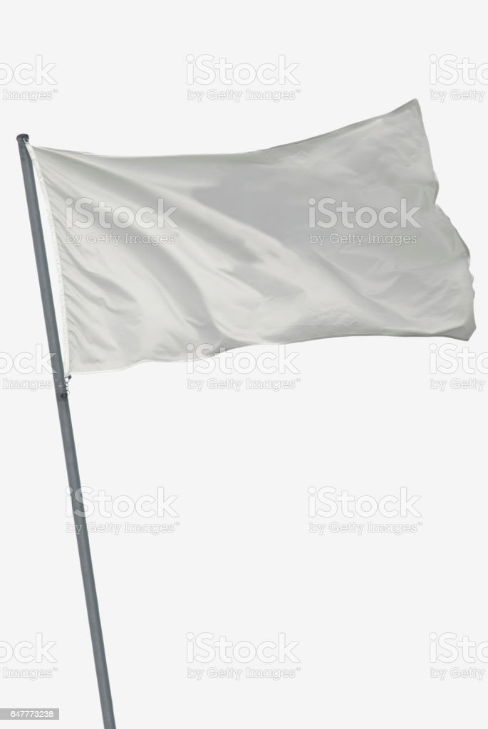Isolado de bandeira branca - foto de acervo