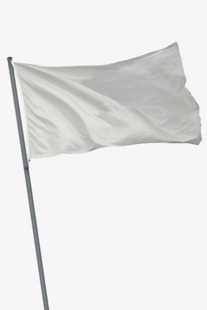 isolated white flag - flag stock photos and pictures