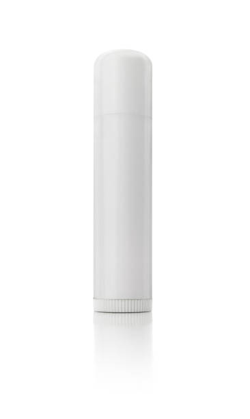 Isolated White Lip Balm stock photo