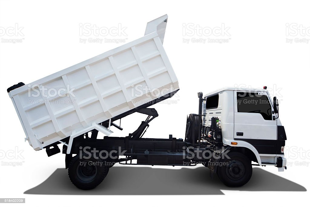 Isolated White Truck stock photo