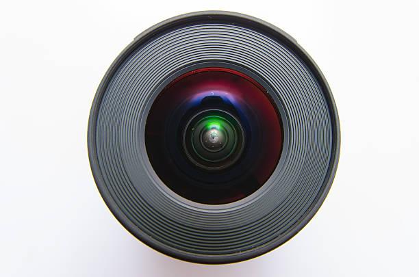 isolated wide angle lens - telelens stockfoto's en -beelden