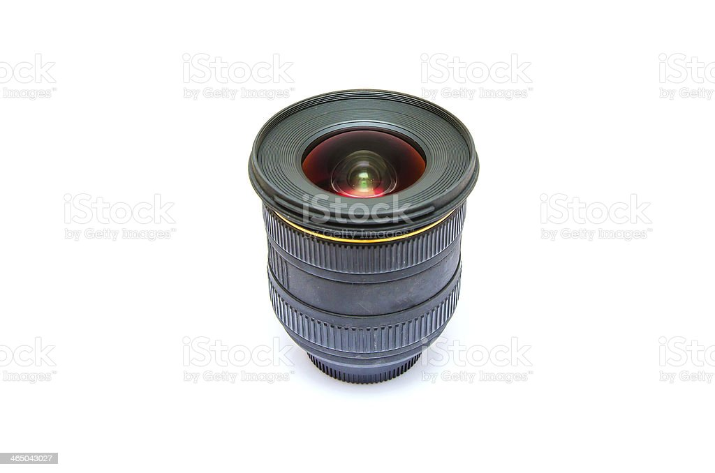 Isolated wide angle lens royalty-free stock photo