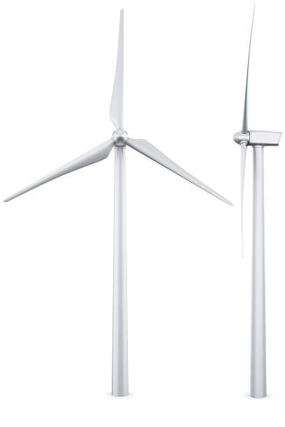 Isolierte wind turbine – Foto
