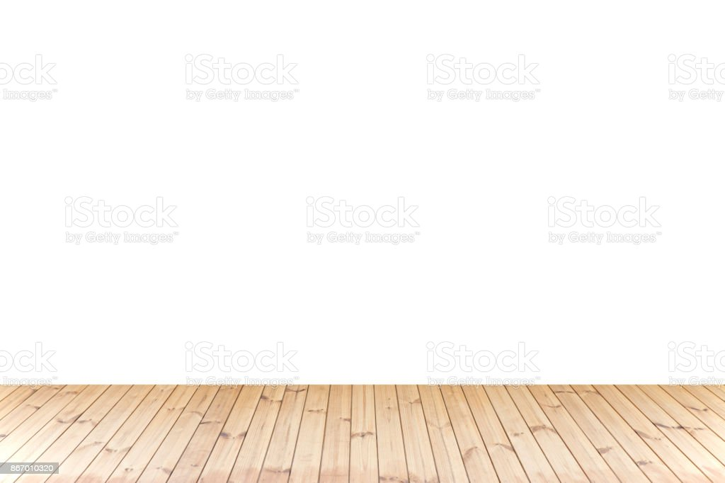 Isolated Wood floor,wood texture in light brown color on white background for copy space royalty-free stock photo