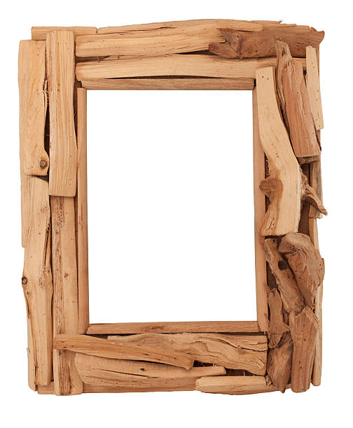 Isolated Wood Picture Frame stock photo