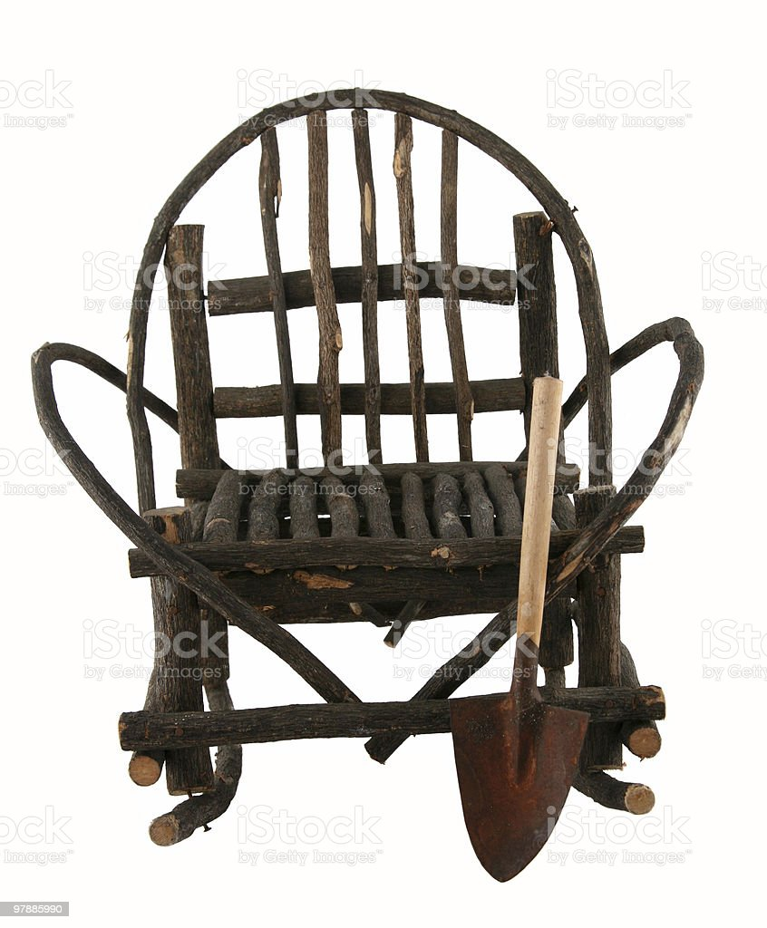 Isolated wooden chair royalty-free stock photo