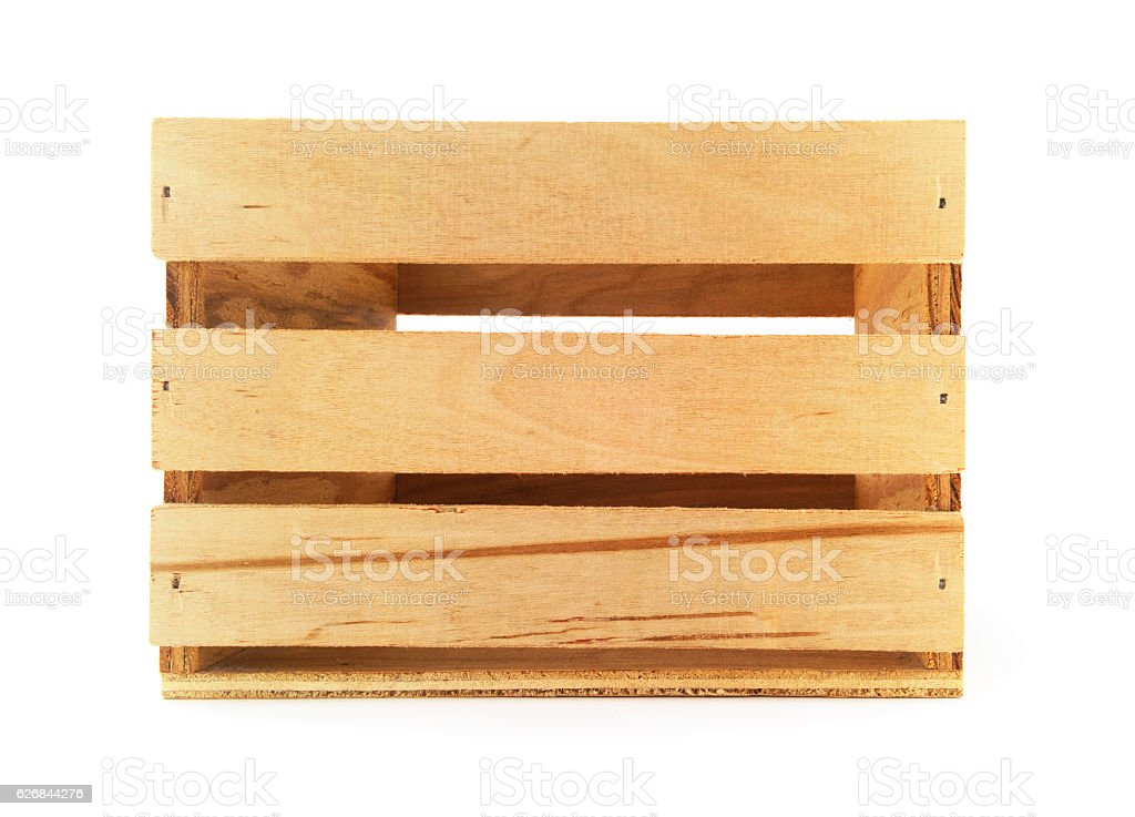 Isolated Wooden Crate. stock photo