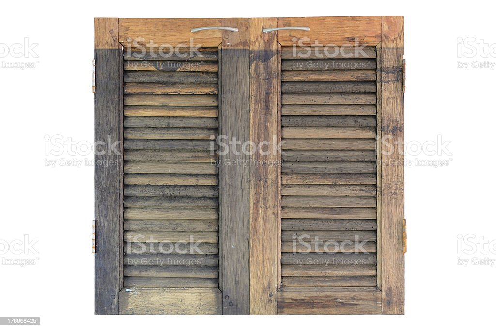 Isolated wooden window panel royalty-free stock photo