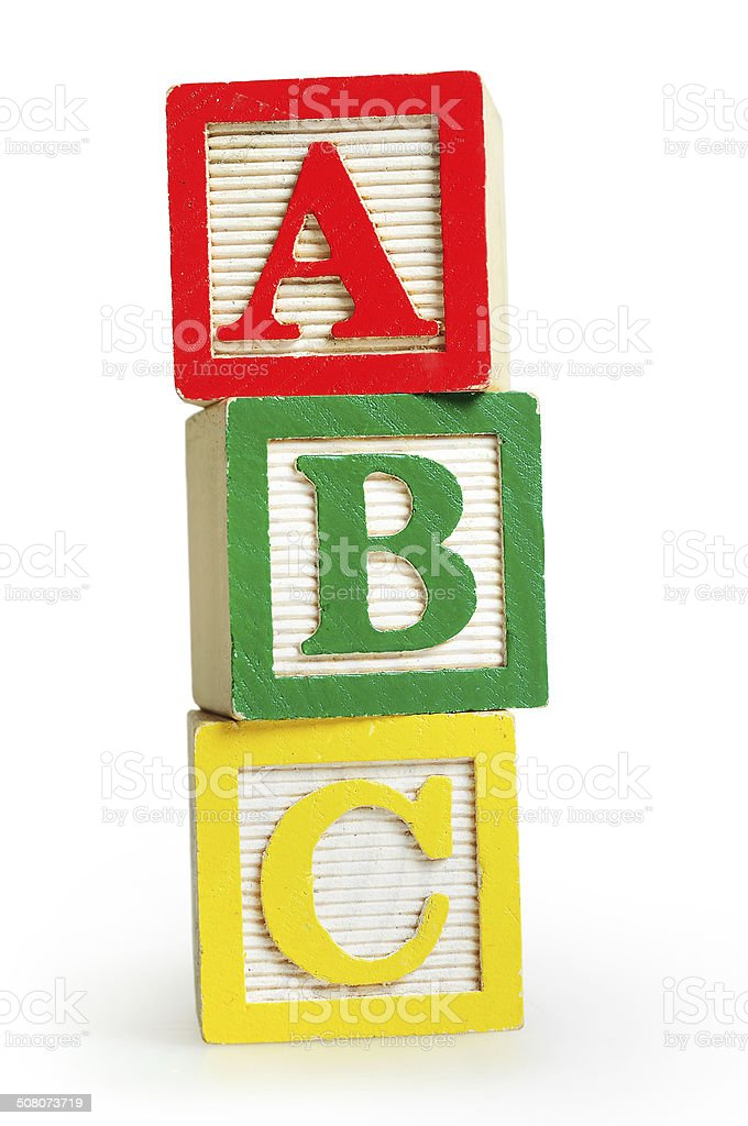 Isolated word ABC stock photo