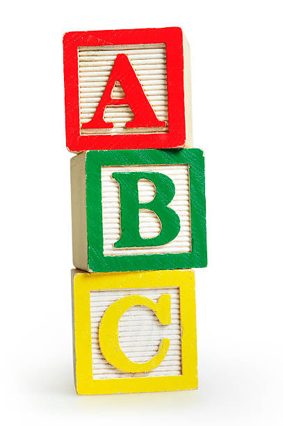 isolated word abc - alphabetical order stock pictures, royalty-free photos & images