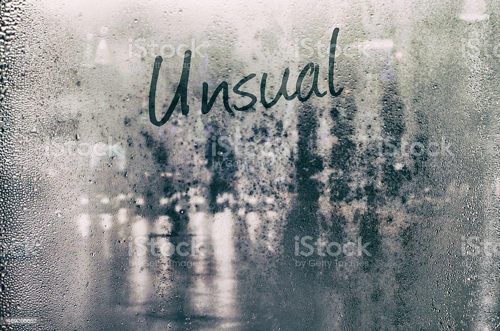 Isolated word. stock photo