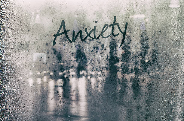 isolated word. - anxiety stock photos and pictures